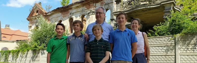 Wizyta hrabiego z rodziną